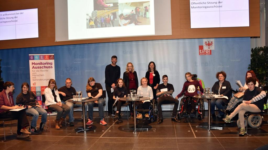 Die Jugendgruppe präsentierte den von ihnen gestalteten Film