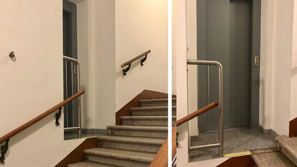 Lift mitten im Stiegenhaus