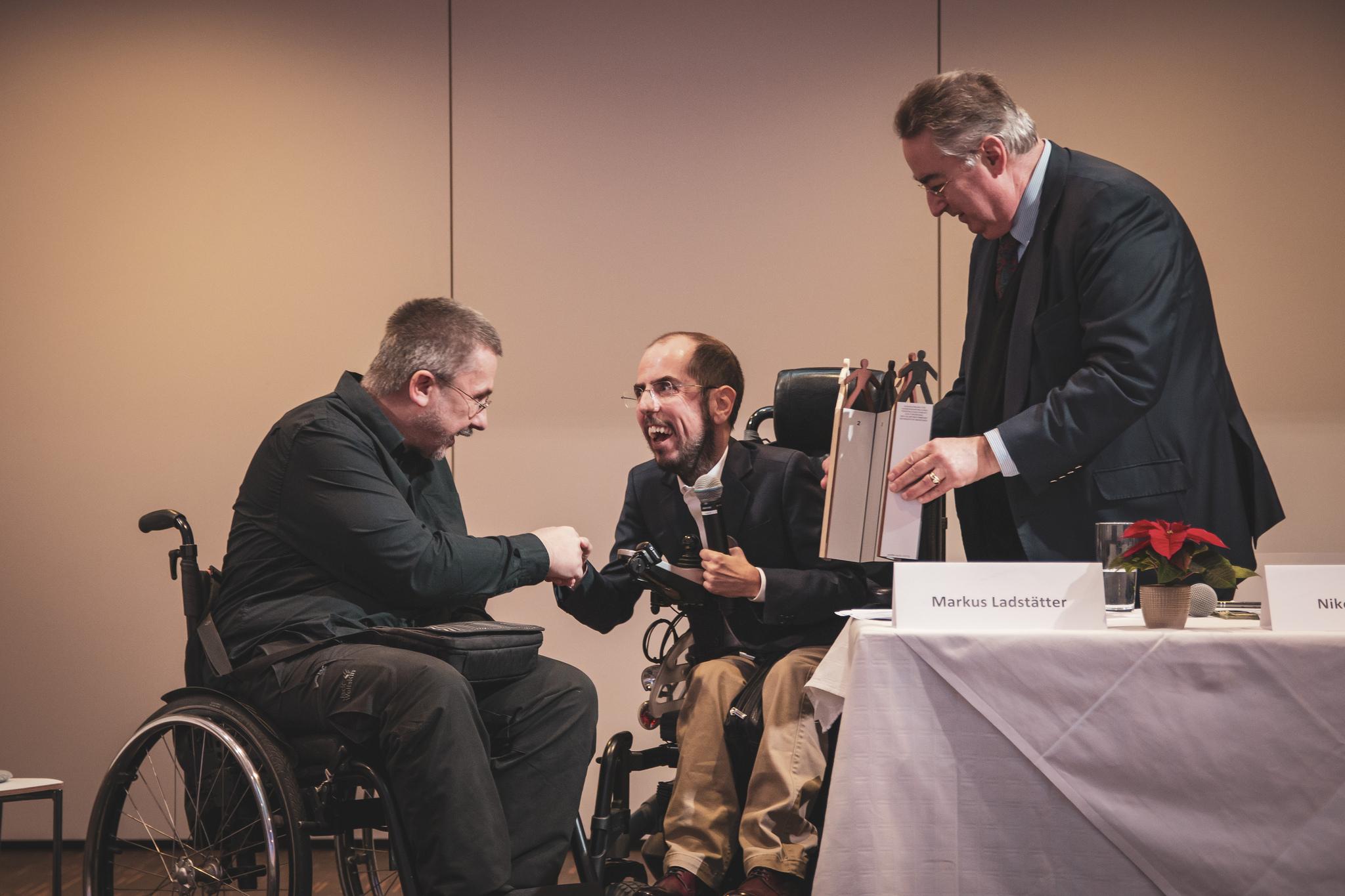 Manfred Fischer, Markus Ladstätter und Niklaus Hartig