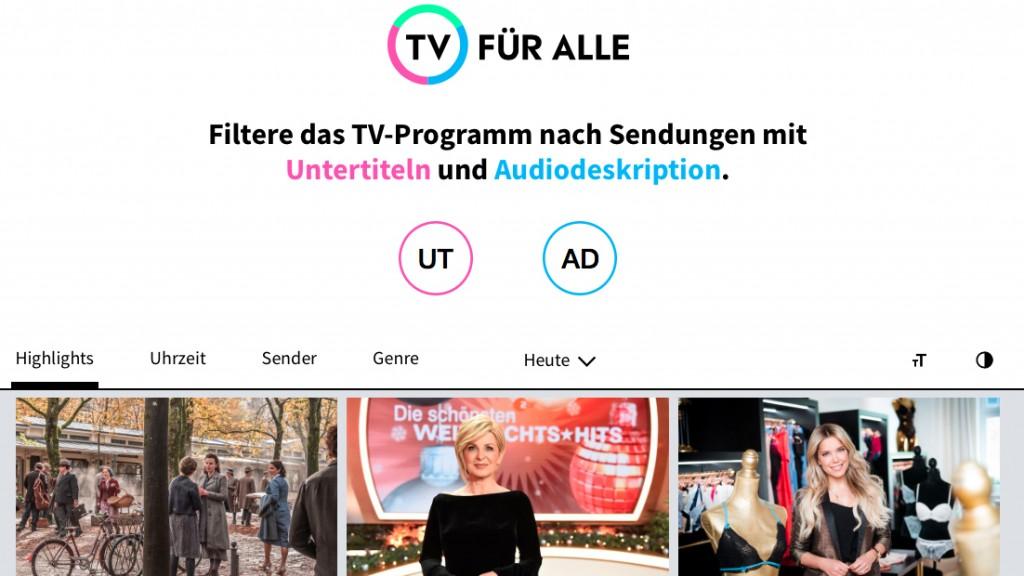 Homepage TV für ALLE