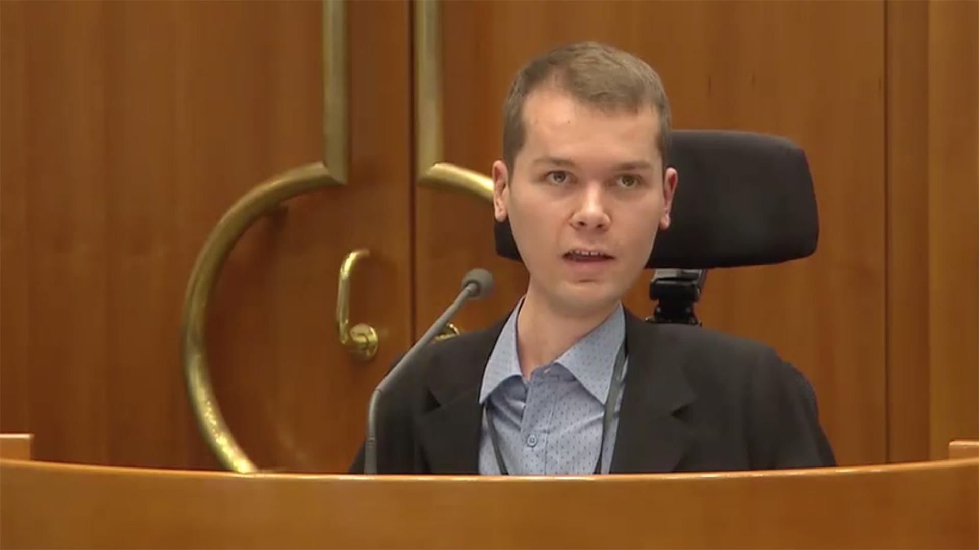 Jakob Schriefl bei einer Rede im burgenländischen Landtag am 30. Jänner 2019