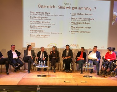 Podium zur Diskussion: Österreich - Sind wir gut am Weg?