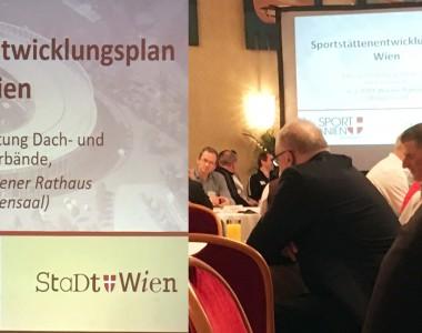 Tagung zum Sportstättentwicklungsplan Wien am 6. März 2019