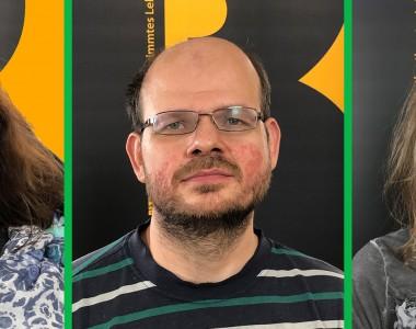 Die Interviewpartner als Portraitfotos. Von links nach rechts: Bernadette Feuerstein, Jakob Putz und Elisabeth Chlebecek.