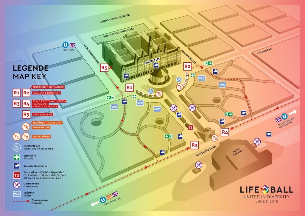 Plan Rathausplatz - Life Ball 2019