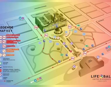 Plan Rathausplatz - Life Ball 2019