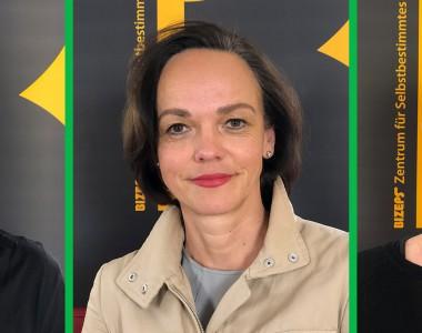 Die Interviewpartner als Portraitfotos. Von links nach rechts: Tobias Buchner, Sonja Hammerschmid und Andrea Rieger.