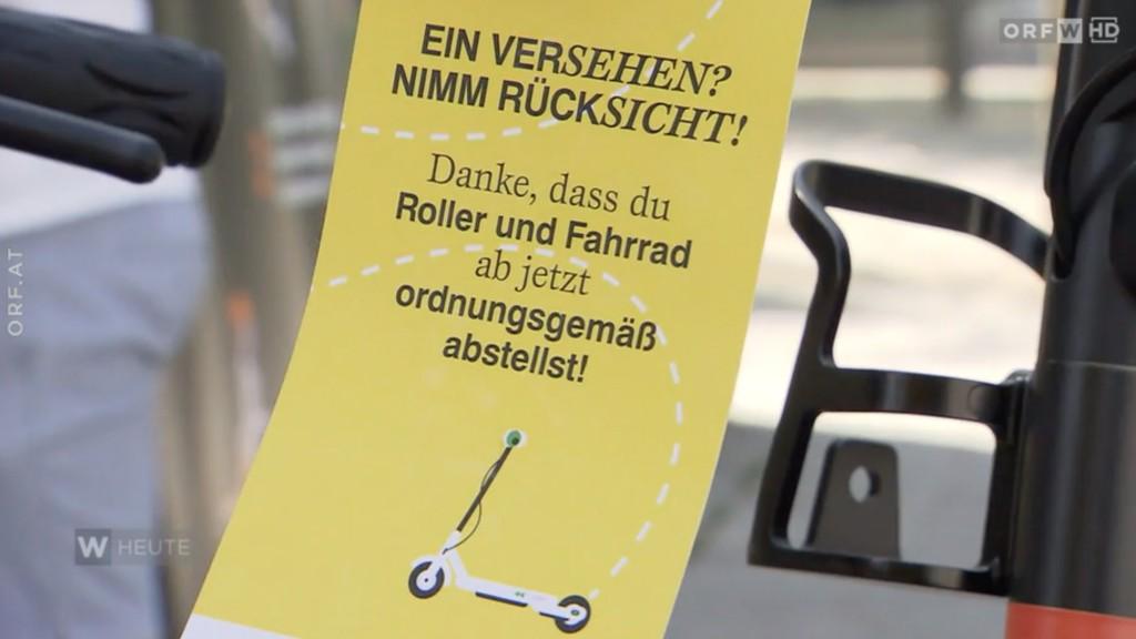 Anhänger: Ein Versehen? Nimm Rücksicht! Danke, dass du Roller und Fahrrad ab jetzt ordnungsgemäß abstellst.