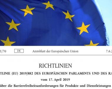 Deckblatt EU-Richtlinie 2019/882