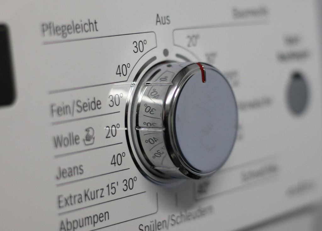 Knopf einer Waschmaschine