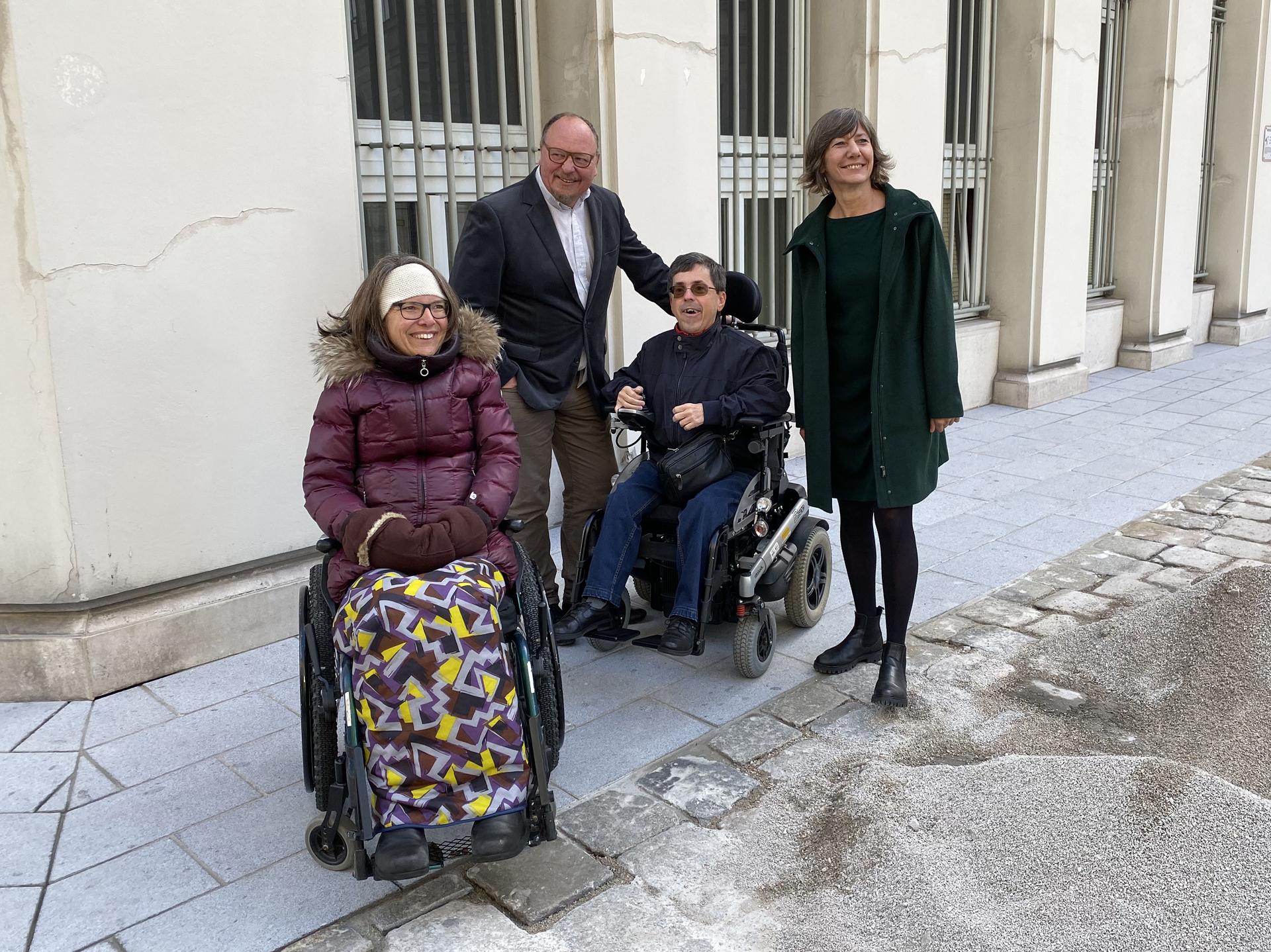 Maria Grundner, Niki Kunrath, Martin Ladstätter und Birgit Hebein