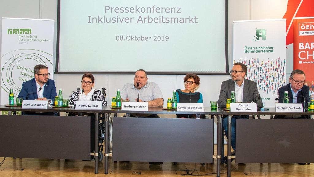 Pressekonferenz Inklusive Arbeitsmarkt