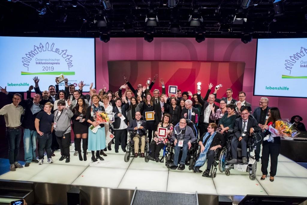Gruppenbild vom Inklusionspreis 2019