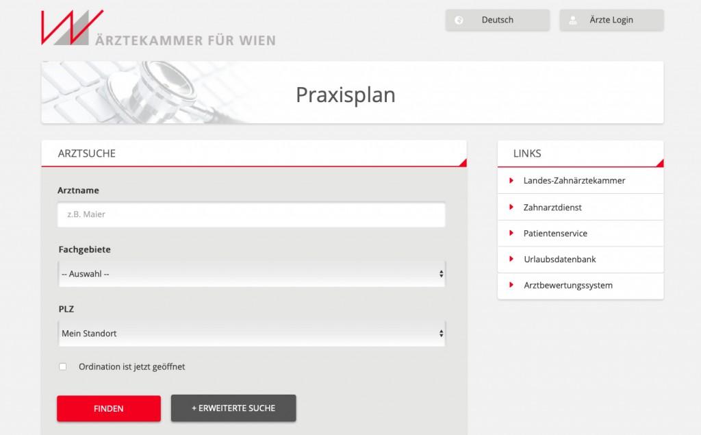Praxisplan 2019 der Ärztekammer Wien