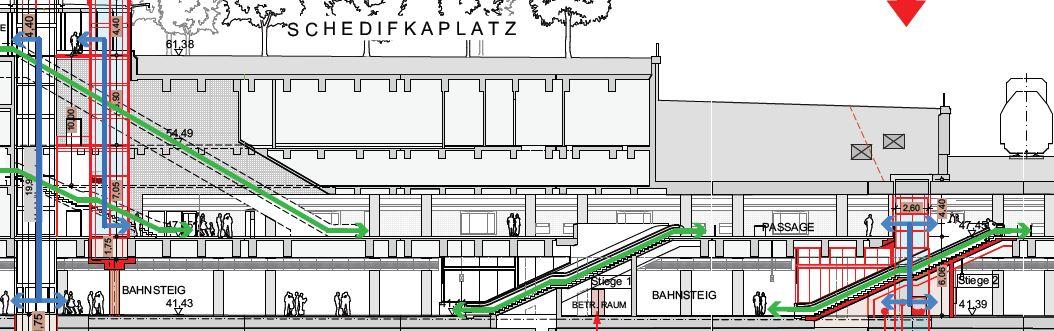 U-Bahn Skizze für Schedifkaplatz