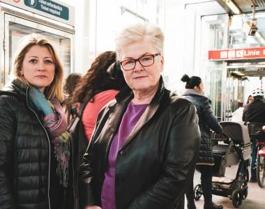 Bettina Emmerling, Abgeordnete und Christine Hahn, Klubvorsitzende Favoriten, NEOS