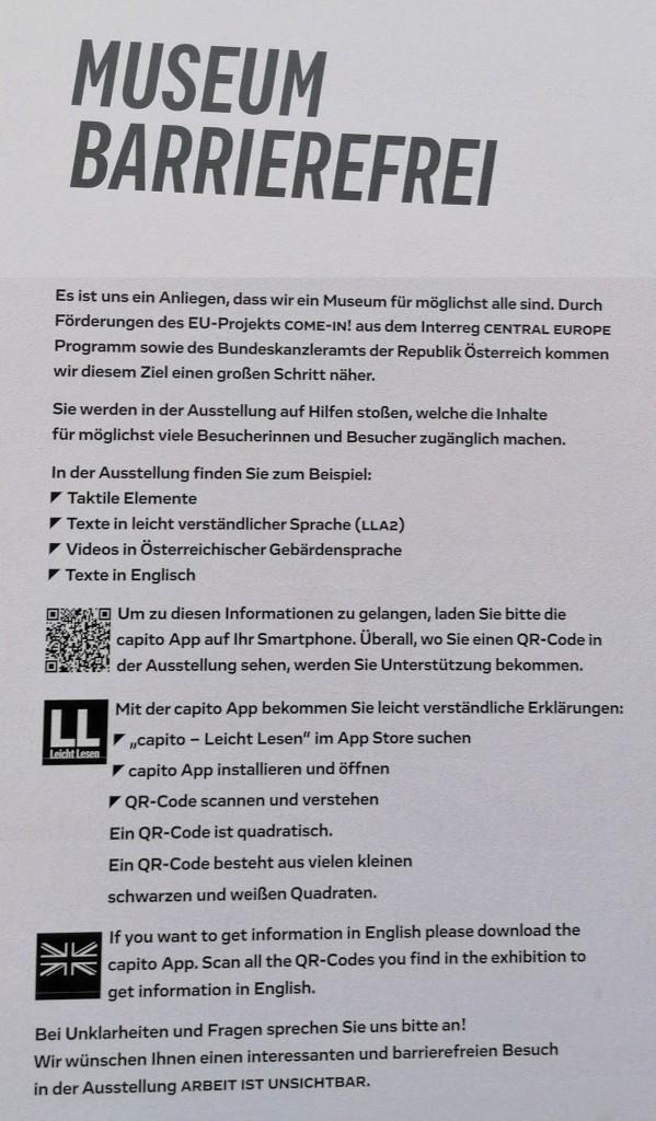 Museum Arbeitswelt Steyr - Museum barrierefrei