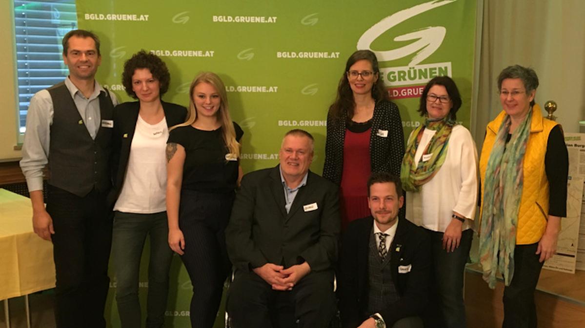 KandidatInnen der GRÜNEN für die Landtagswahl 2020 im Burgenland