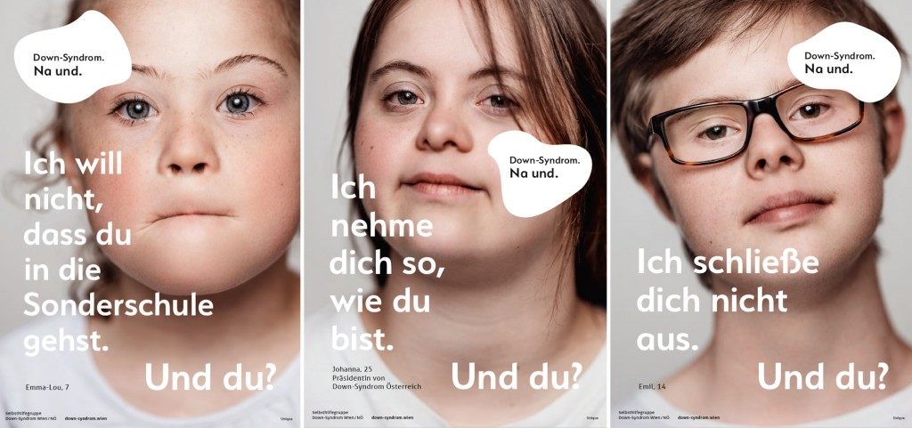 Kampagne: Down-Syndrom. Na und.
