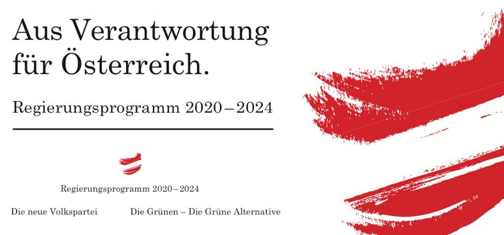Regierungsprogramm 2020-2024 zwischen ÖVP und GRÜNE