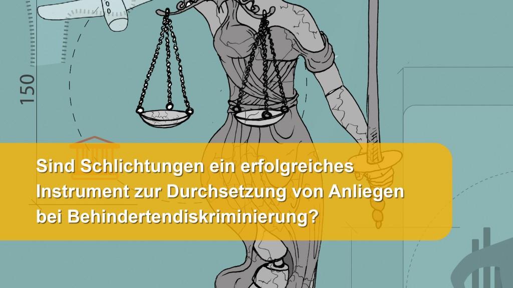 Broschüre: Sind Schlichtungen ein erfolgreiches Instrument zur Durchsetzung von Anliegen bei Behindertendiskriminierung?