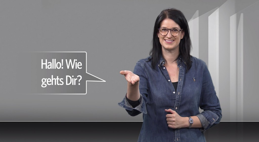 Hallo! Wie gehts dir? Video in Gebärdensprache