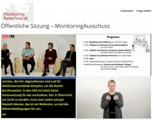 Podiumsdiskussion der Öffentlichen Sitzung des Monitoringausschusses am 19. Oktober 2020