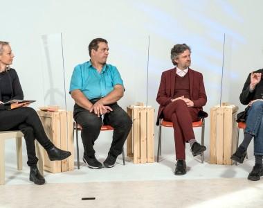 Podiumsdiskussion mit (v.l.n.r.) Christine Steger, Erich Girlek, Stefan Prochazka und Lukas Huber diskutierten und beantworteten Fragen von Zuseher*innen.