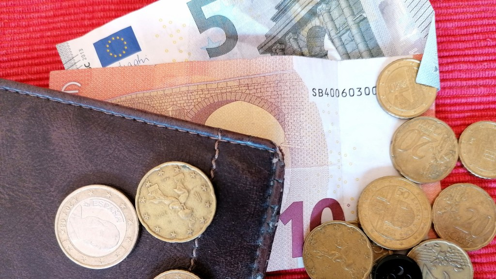 Resstgeld und Geldbörse