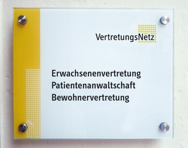 Türschild VertretungsNetz: Erwachsenenvertretung / Patientenanwaltschaft / Bewohnervertretung