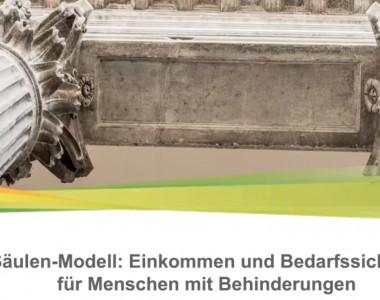 2-Säulen-Modell: Einkommen und Bedarfssicherung für Menschen mit Behinderungen
