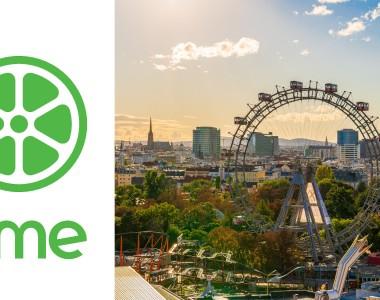 Logo von Time und Skyline von Wien