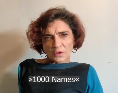 Cornelia Scheuer im Video 1000 Names - Internationale Tag des Gedenkens an die Opfer des Holocaust