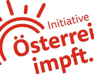 Logo: Sonne und der Text Initiative Österreich impft.