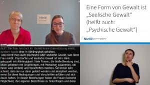 Elisabeth Udl und Isabell Naronnig sprechen bei der Tiroler Enquete zum Gewalt
