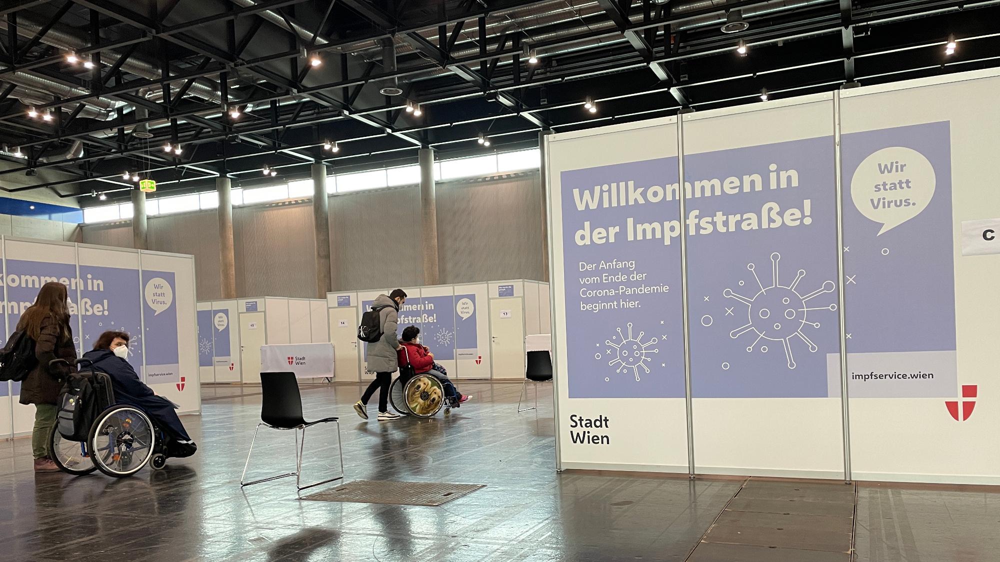 Willkommen in der Impfstraße - Corona-Schutzimpfung am 17.2.2021 in Wien