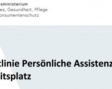 Richtlinie Persönliche Assistenz am Arbeitsplatz - Stand: 1. April 2021