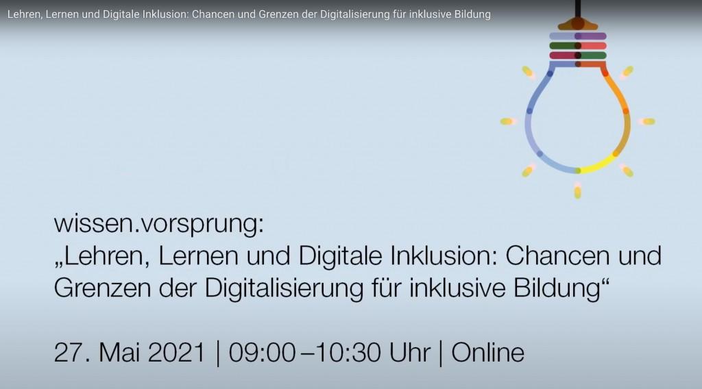 wissen.vorsprung - Diskussion Chancen und Grenzen der Digitalisierung für inklusive Bildung.