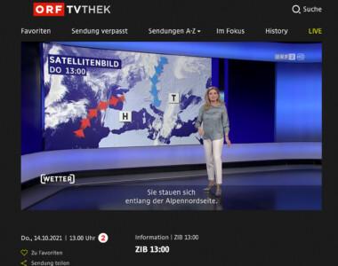 ORF-TVthek: Untertitel nun auch bei Livestreams